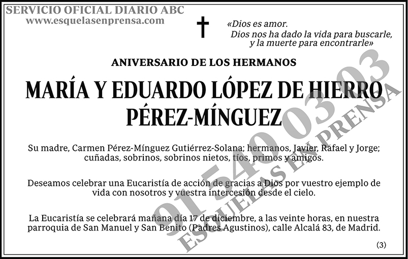 María y Eduardo López de Hierro Pérez-Mínguez